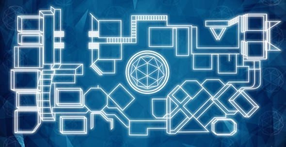 the Crystal Maze map