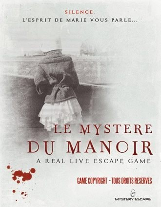 Mystery escape - manoir affiche